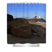 Montauk Point Lighthouse Montauk New York Shower Curtain