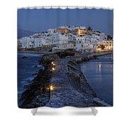 Naxos - Cyclades - Greece Shower Curtain