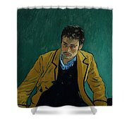 Armand Roulin At The Police Station Shower Curtain