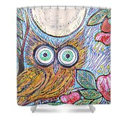 Owl Midnight Shower Curtain