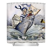 Presidential Campaign 1904 Shower Curtain