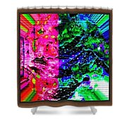 Software Abstract Shower Curtain