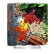 Spices And Herbs Shower Curtain