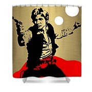 Star Wars Han Solo Collection Shower Curtain