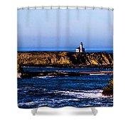 Sunset Bay Beach Shower Curtain