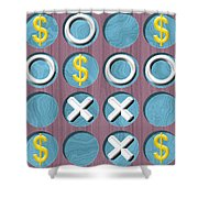 Tic Tac Toe Wooden Board Generated Seamless Texture Shower Curtain