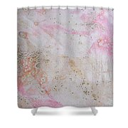 11. V2 Pink And Cream Texture Glaze Painting Shower Curtain