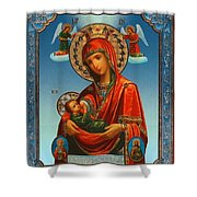 Virgin And Child Painting Religious Art Shower Curtain