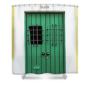 Wooden Door In Old San Juan, Puerto Rico Shower Curtain