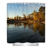 Autumn Beach - The Splendor Of Fall On The Shores Of Lake Ontario Shower Curtain