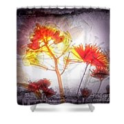11318 Flower Abstract Series 03 #16 Shower Curtain