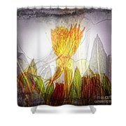 11322 Flower Abstract Series 03 #20 Shower Curtain