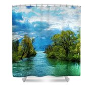 Nature New Landscape Shower Curtain