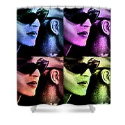 11438 Mannequin Series 11-14 Can You Keep A Secret Pop Art 2 Shower Curtain