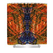11450 Summer Fire Mask 32 Version 2 - God Of Fire Shower Curtain