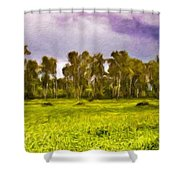 Landscape Nature Scene Shower Curtain