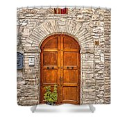 1164 Assisi Italy Shower Curtain