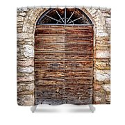 1165 Assisi Italy Shower Curtain