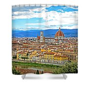 1166 Florence Italy Shower Curtain