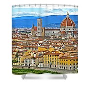 1167 Florence Italy Panorama Shower Curtain