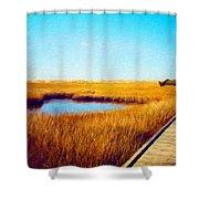 Nature Landscape Graphics Shower Curtain