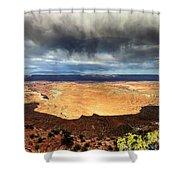 1174 Brewing Desert Storm Shower Curtain