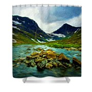 Nature Pictures Of Oil Paintings Landscape Shower Curtain