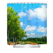 Landscape On Nature Shower Curtain