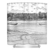 11th Hole - Trump National Golf Club Shower Curtain