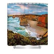 12 Apostle Sunset Shower Curtain