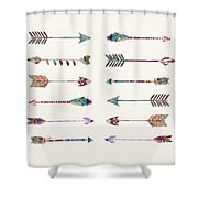 12 Arrows Shower Curtain