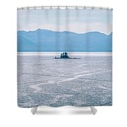 Beautiful Landscape In Alaska Mountains  Shower Curtain