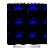 12 Blue Moons Shower Curtain
