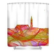 Cheyenne Wyoming Skyline Shower Curtain
