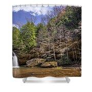 Hocking Hills Waterfall Shower Curtain