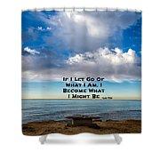 Lao Tzu Quote Shower Curtain