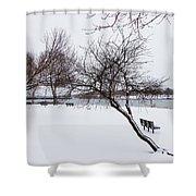 Obear Park In Winter Shower Curtain