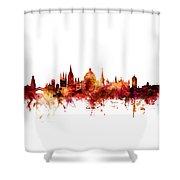 Oxford England Skyline Shower Curtain