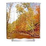 Pennsylvania Stream In Autumn Shower Curtain
