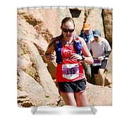 Pikes Peak Marathon And Ascent Shower Curtain