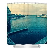 Racine Harbor Wisconsin  Shower Curtain