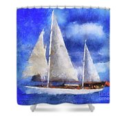 Ships Ahoy Shower Curtain