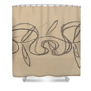 Study For A Border Design Shower Curtain