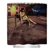 Tasha Holz Shower Curtain