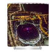 The Grateful Dead At Soldier Field Aerial Photo Shower Curtain