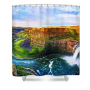 Nature Cool Landscape Shower Curtain