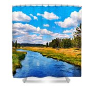 Painting Landscape Shower Curtain
