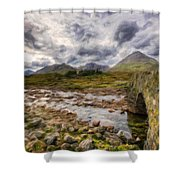 A Landscape Nature Shower Curtain