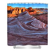 Fire Wave Panorama Shower Curtain