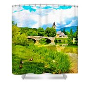 Nature Landscape Oil Painting For Sale Shower Curtain